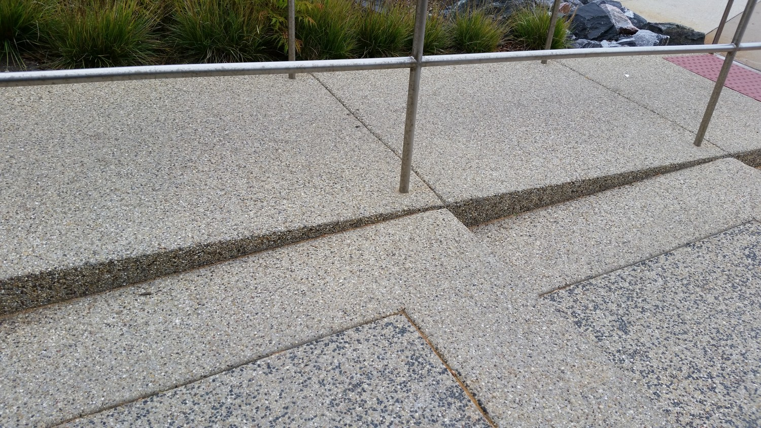 Exposed Aggregate Stairs And Handicap Ramp